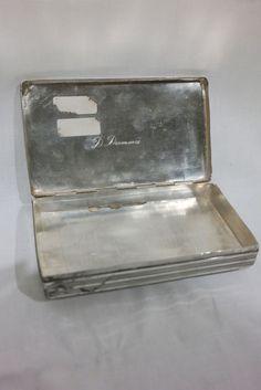 Zilveren geguillocheerde tabaksdoos, D.A. Leeflang, Utrecht, 1850