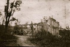 Bataille du Chemin des dames - chateau craonelle (photo VestPocket Kodak Marius Vasse 1891-1987)