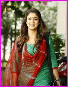 Nayantharas Latest Hot and Beautiful Photos in Salwar Suit (Churidar) (HD) Beautiful Girl Indian, Most Beautiful Indian Actress, Most Beautiful Women, Indian Fashion Dresses, Indian Outfits, Churidar Designs, Kurti Patterns, Dress Neck Designs, Indian Beauty Saree