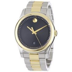 Movado Men's 0606483 Movado Sportivo Two-Tone Black Museum Dial Bracelet Watch