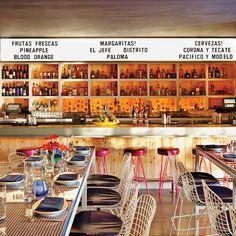 What We Love: the Mexico City meets Scottsdale feel of Iron Chef Jose Garces' Distrito. The Saguaro (Scottsdale, Arizona) - Jetsetter Scottsdale Restaurants, Best Mexican Restaurants, Best Mexican Recipes, Fresco, Mexican Restaurant Design, Restaurant Ideas, Amsterdam Restaurant, Amsterdam Trip, Arizona Travel