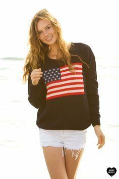 Black USA Flag Sweatshirt  One Size by RyansFindz on Etsy