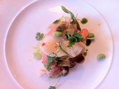 Sea Bass Ceviche  & Fennel at Corner Room, London.