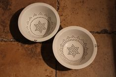 A good quality late 19th century French ceramic glazed colander.