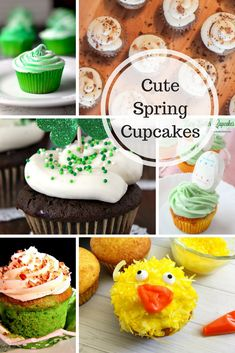 Cute Spring Cupcakes | Easter Cupcakes | Saint Patrick's Day Cupcakes