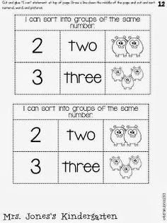 Interactive Math Notebooking in Kindergarten.