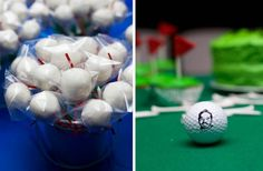 A golf-themed 30th birthday party - some very cool ideas on the blog.