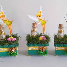 Festa Thinker Bell, Chocolate Crafts, Peter Pan And Tinkerbell, Fairy Land, Birthday Party Themes, Planter Pots, Alice, Birthdays, Gifts