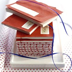 Mini notebooks as wedding favors for kids. They can use them during the reception if they get bored!