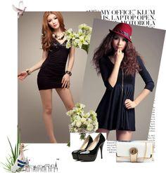 """""""cheap little black dresses"""" by v9v9com on Polyvore"""