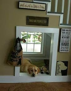 I would sooo do this to one of the hall closets under the stairs for my dogs :)