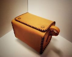 Shave Leather Bag Toiletry Bag Dopp Kit Shave by VakalisCreations