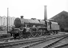 One of Barrow Roads long term residents Jubilee 4-6-0 45682 'Trafalgar' at its home shed, 21/7/63.