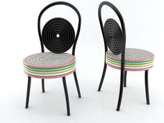 Marita + Frida Francescon #fuorisalone #lambrate #din2016 #chairs #likeliquorice #art #marshmallow #unexpected #visitors #unique #pinDin
