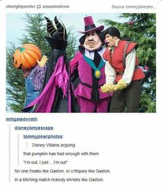No one shrieks like Gaston