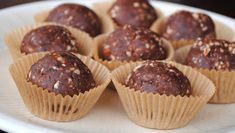 Fit Foodie Finds: Peanut Butter Brownie Balls - think I would cover in chocolate to look better Candy Recipes, Real Food Recipes, Sweet Recipes, Snack Recipes, Dessert Recipes, Paleo Recipes, Healthy Baking, Healthy Treats, Yummy Treats