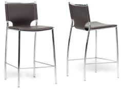 Baxton Studio Montclare Black Leather Modern Counter Stool affordable modern furniture in Chicago, Bar Furniture, Montclare Black Leather Modern Counter Stool Modern Counter Stools, Leather Counter Stools, Black Bar Stools, Kitchen Stools, Counter Chair, Kitchen Island, Amy's Kitchen, Kitchen Cabinets, Home Decor Kitchen