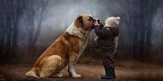Farmer Kid And His Dog