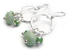 Silver Earrings - Amazonite Sterling Silver Jewelry, Gemstone Jewelry, Silver Earrings, Drop Earrings, Dark Colors, Indigo, Glass Beads, Lovers, Gemstones