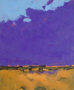 Paul Bailey, Purple Sky 18 x 22 inches 2013 Abstract Landscape Painting, Landscape Art, Landscape Paintings, Abstract Art, Abstract Portrait, Portrait Paintings, Contemporary Landscape, Contemporary Paintings, Paintings I Love