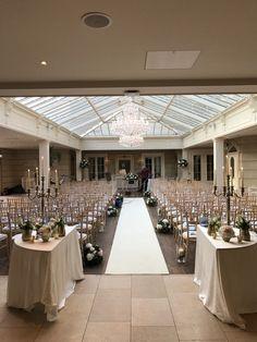 Indoor Wedding Ceremony, flowers by Indoor Wedding Ceremonies, Wedding Ceremony, Table Decorations, Flowers, Outdoor, Beautiful, Home Decor, Outdoors, Decoration Home