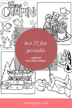 Best 21 Free Printable Camping Coloring Pages .Coloring pages the simplest method to soothe your kid. While your child is busy by coloring drawings you can do your tasks. Camping Coloring Pages, Summer Coloring Pages, Thanksgiving Coloring Pages, Cool Coloring Pages, Free Printable Coloring Pages, Adult Coloring Pages, Coloring Sheets, Coloring Books, Free Printables