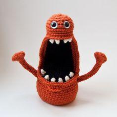 just great! #monster #crochet #orange