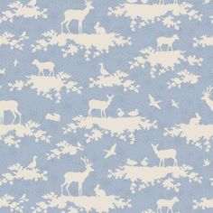 0 tilda romantic forest and deer pattern