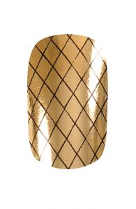 #HND #Nail Wraps - #Fishnet Black and Gold | Hollywood Nail Design £5.50 for a pack of 15.