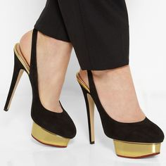 Shoespie Slingback strap Buckle Platform Heels|Material:Suede|Heel Height:14.5cm