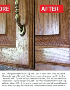 How to clean grease off of kitchen cabinets