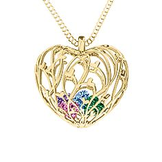 It's a heart cage with delicate little heart branches. And I get to put 2 heart birthstones in it. It's literally perfect! I hope my husband sees this LOL - Organic Caged Hearts Pendant Name Necklace, Pendant Necklace, Mother Rings, Silver Prices, Gold Price, Birthstone Jewelry, Gold Pendant, Personalized Jewelry, Birthstones