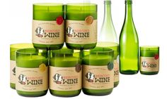 Rescued Wine Candles. Re-purposed wine bottle into candle life. Now available in the PEAK Boutique at geyserpeakwinery.com