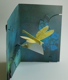 Kirigami Dragonfly Popup Card Make Yourself by popupcardmaking, $3.95