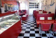 Split and glory 50's icecream parlour