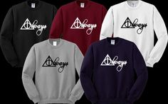 Deathly Hallows Sign Sweater Sweatshirt Crewneck Men or Women Unisex Size