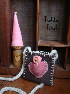 Waldorf Inspired Valentine Heart Pouch by TheToadstoolForest, $17.00