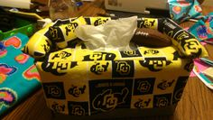 CU buffs tissue box cover ... Uploaded with Pinterest Android app. Get it here: http://bit.ly/w38r4m
