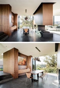 A Contemporary Dining Room In A Home In Beverly Hills, California.