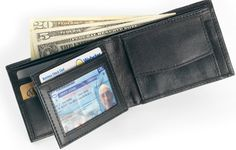 "Our soft leather billfold with separate coin pocket is ideal for today's traveler.Open this wallet to find six (6) slots for credit / debit / business cards, PLUS a separate transparent pocket for your license or other photo ID.Made of soft leather, this wallet also has two (2) separate currency compartments.Size (Closed): 4.25"" x 3.25"" x 3/8"" (thick)"