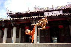 Shaolin temple, Kung Fu.   Shao=Shaoshi mountains and lin=forest.   The Shaolin Temple is the Temple of the forest in the Shaoshi mountains.