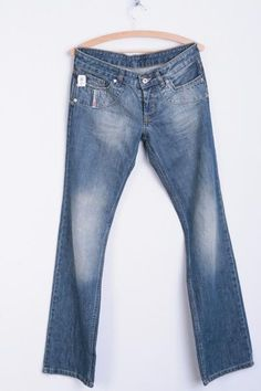 Diesel Industry Mens 31 Trousers Light Blue Cotton Denim Jeans - RetrospectClothes