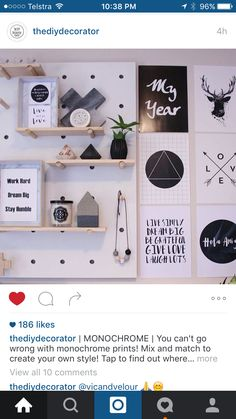 Kmart pin board styling