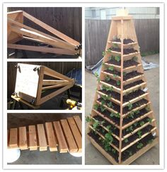 How to build a vertical pyramid tower garden planter step by step DIY tutorial instructions