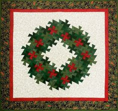 This is my Christmas Wreath Pinwheel quilt. Patterns and fabric kits are available in the shop for this one. Christmas Planters, Christmas Projects, Christmas Holidays, Christmas Wreaths, Christmas Decorations, Christmas Ornaments, Christmas Ideas, Christmas Quotes, Christmas Nails