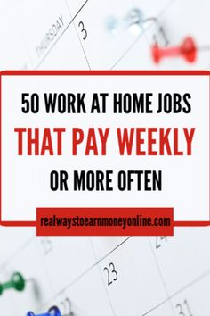 Huge list of 100 percent legit work at home jobs that send paycheck every single week. A great list if you need to work at home and see money every Friday. #workfromhome #workathome #remotejobs #telecommutejobs #makemoneyfromhome #makemoneyathome #earnmoneyfromhome #earnmoneyonline #makemoneyonline #wahm Earn Money From Home, Earn Money Online, Online Jobs, How To Make Money, Start Up Business, Starting A Business, Work From Home Companies, Employment Opportunities, Paper Organization