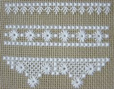 https://flic.kr/p/5giJsr | Hapsburg Lace Sampler - WIP | double cross stitch, leaf stitch, eyelets, scallopped filling