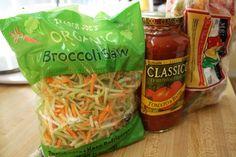 Ground Turkey Broccoli Slawghetti Crock Pot Recipe