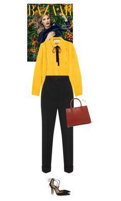 """Outfit of the Day"" by wizmurphy ❤ liked on Polyvore featuring Gucci, Dolce&Gabbana, Prada, Aquazzura, Marc by Marc Jacobs, ootd and gucci"