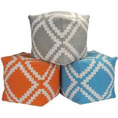 Urban Shop Square Trellis Pouf - Walmart.com. These cute and colorful poufs are just $33 each!!